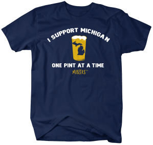 MIB017-Support Michigan Pint
